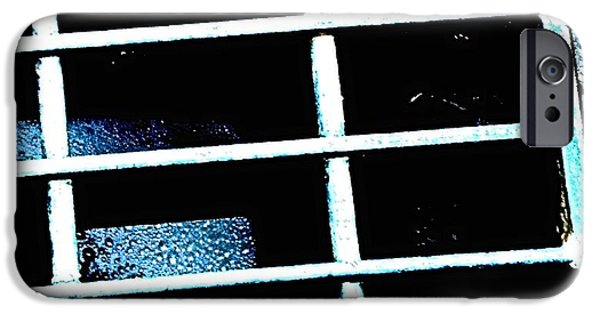 Raining iPhone Cases - Story of a Storm Drain iPhone Case by Kristalin Davis