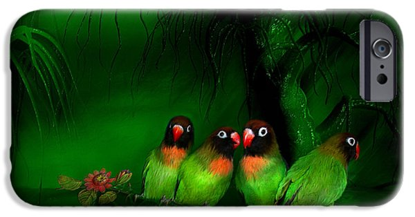 Strange Mixed Media iPhone Cases - Strange Love iPhone Case by Carol Cavalaris