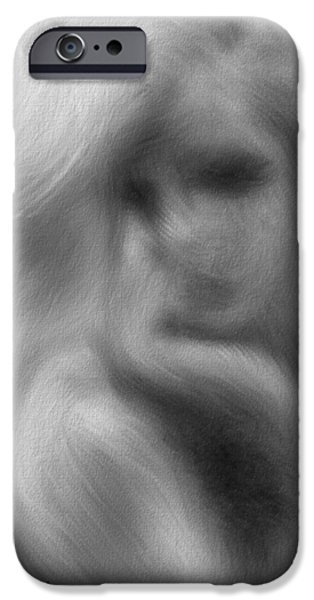 Stranger at the Cafe iPhone Case by Bob Orsillo