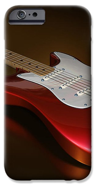 Stratocaster on a Golden Floor iPhone Case by James Barnes
