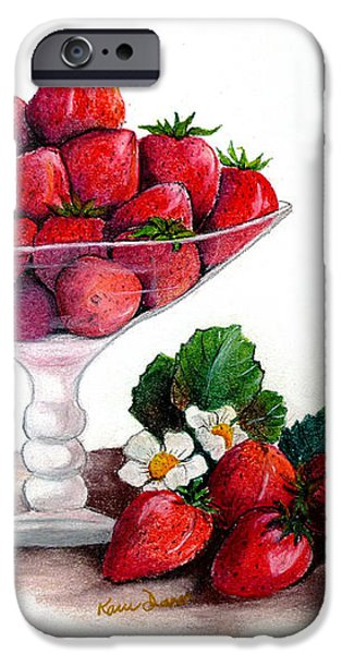 STRAWBERRIES  iPhone Case by KARIN KELSHALL- BEST