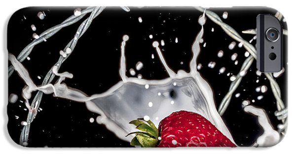 Strawberry iPhone Cases - Strawberry Extreme Sports iPhone Case by TC Morgan