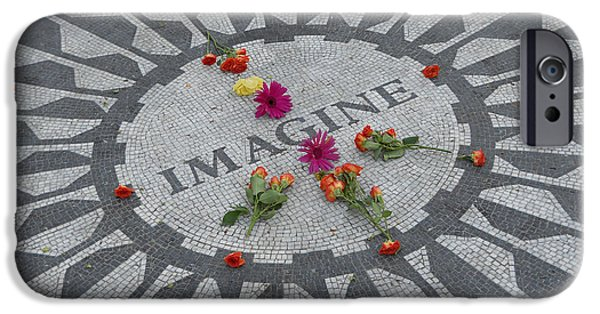 Recently Sold -  - Empire State iPhone Cases - Strawberry Fields Central Park iPhone Case by Jim Ramirez