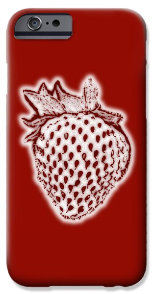 Strawberry Art iPhone Cases - Strawberry iPhone Case by Frank Tschakert