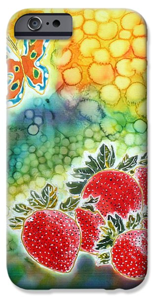 Food And Beverage Tapestries - Textiles iPhone Cases - Strawberry Garden iPhone Case by Beverly Johnson