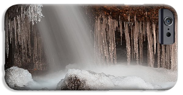 Epic iPhone Cases - Stream of Frozen Hope 2 iPhone Case by Nicolas Raymond