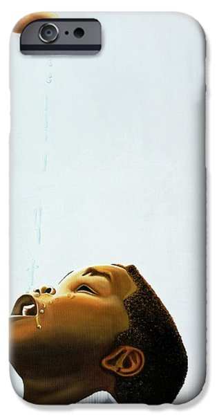 Young Boy iPhone Cases - Streams in the Desert iPhone Case by Kaaria Mucherera