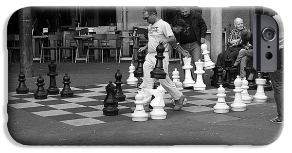 Chess Players iPhone Cases - Street Chess iPhone Case by Aidan Moran