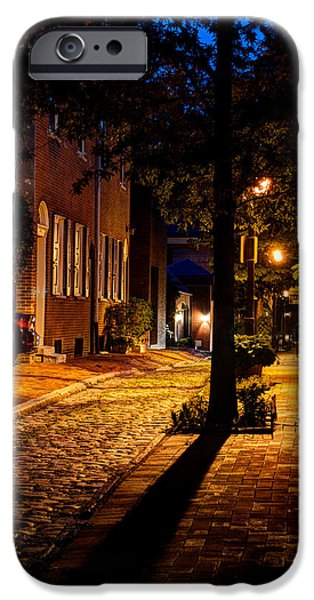 American Independance Photographs iPhone Cases - Street in Olde Town Philadelphia iPhone Case by Mark Dodd