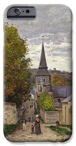 Rural iPhone Cases - Street in Sainte Adresse iPhone Case by Claude Monet