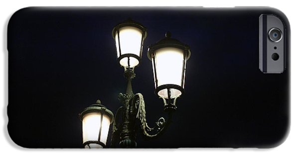 Night Lamp iPhone Cases - Street Lamps  iPhone Case by James  Wasdell