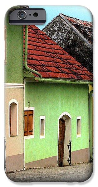 Street of Wine Cellar Houses  iPhone Case by Mariola Bitner