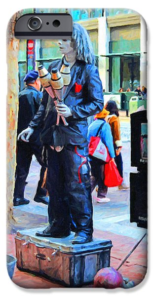 Jugglers iPhone Cases - Street Performer 2 . Photoart iPhone Case by Wingsdomain Art and Photography