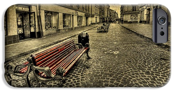 Bench iPhone Cases - Street Seat iPhone Case by Evelina Kremsdorf