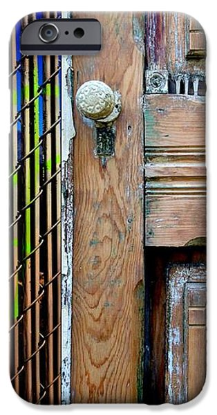 Abstractions iPhone Cases - Street Sights 38 iPhone Case by Marlene Burns