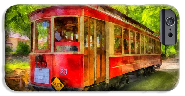 23 iPhone Cases - Streetcar 23 iPhone Case by Mark Kiver