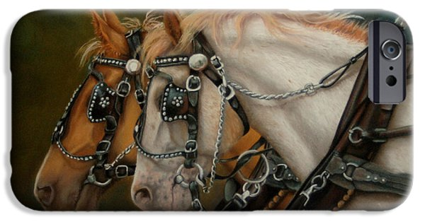 Horse iPhone Cases - Strength and Beauty iPhone Case by Marilyn Gregory