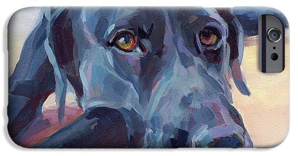 Portrait Paintings iPhone Cases - Stretched iPhone Case by Kimberly Santini