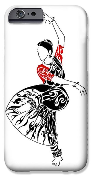 Pen And Ink iPhone Cases - Strike a Pose iPhone Case by Anushree Santhosh