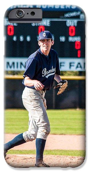 Baseball Glove iPhone Cases - Strike iPhone Case by Karen Regan