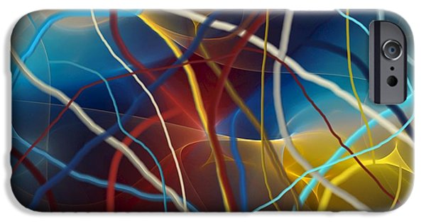 Fine Art Fractal iPhone Cases - String Theory iPhone Case by David Lane