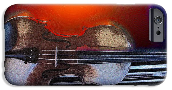 Abstract Digital Photographs iPhone Cases - Strings iPhone Case by Lana Art