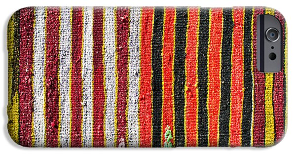 Hand-made iPhone Cases - Striped textile iPhone Case by Tom Gowanlock