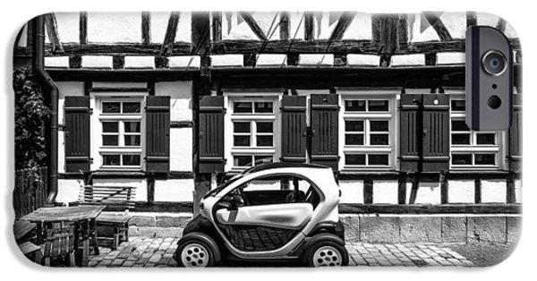 Buildings iPhone Cases - Stripes And Cars iPhone Case by Peteris Vaivars