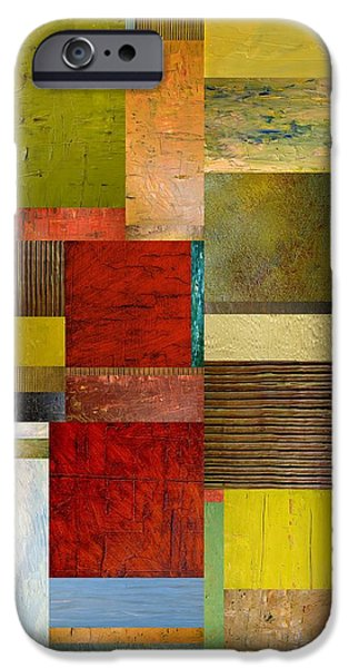 Strips and Pieces l iPhone Case by Michelle Calkins