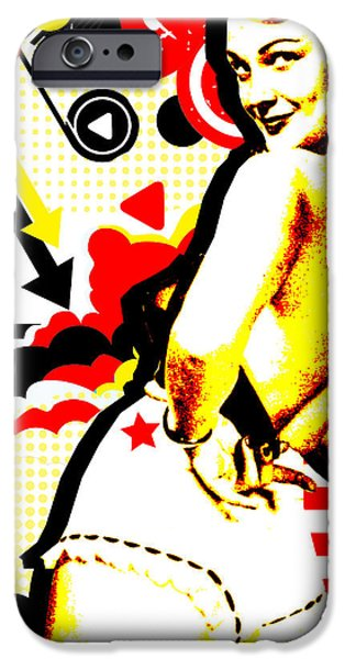Sensual Mixed Media iPhone Cases - Striptease iPhone Case by Chris Andruskiewicz