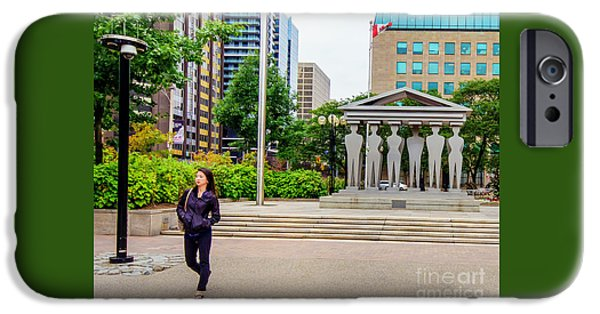Dave iPhone Cases - Strolling Past the Pillars of Justice iPhone Case by Dave Hood