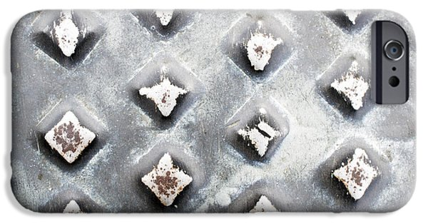 Stainless Steel Photographs iPhone Cases - Studded metal iPhone Case by Tom Gowanlock