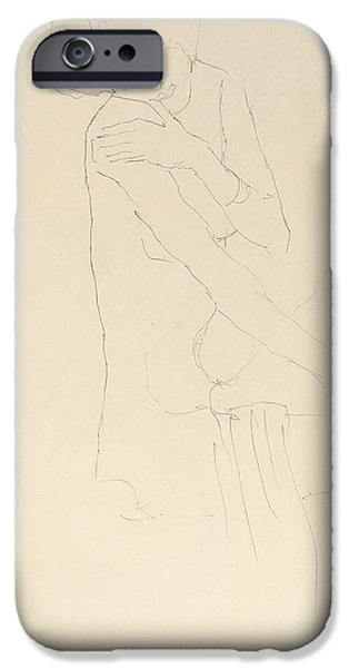 Preparatory Study iPhone Cases - Study for Adele Bloch Bauer II iPhone Case by Gustav Klimt