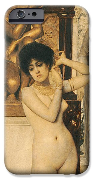 Allegory iPhone Cases - Study for Allegory of Sculpture iPhone Case by Gustav Klimt