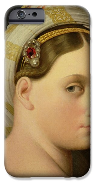 Beautiful Faces Paintings iPhone Cases - Study for an Odalisque iPhone Case by Ingres