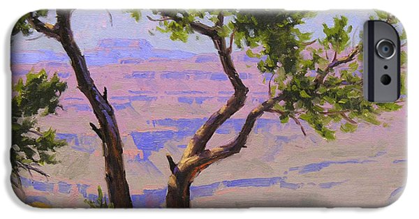 Grand Canyon iPhone Cases - Study for Canyon Portal iPhone Case by Cody DeLong