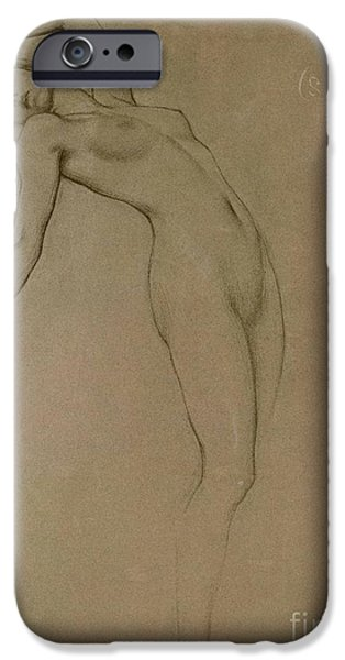 Pre-raphaelites iPhone Cases - Study for Clyties of the Mist iPhone Case by Herbert James Draper