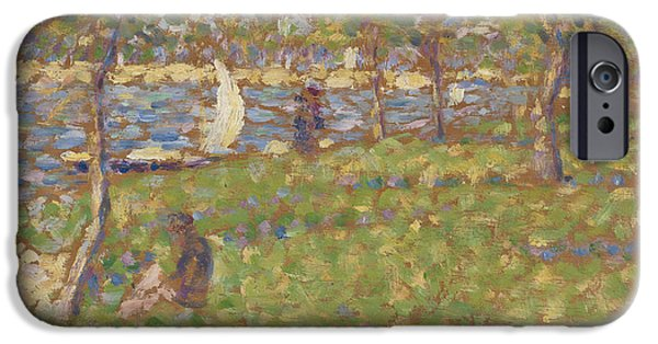 Loose Style iPhone Cases - Study for La Grande Jatte iPhone Case by Georges Pierre Seurat