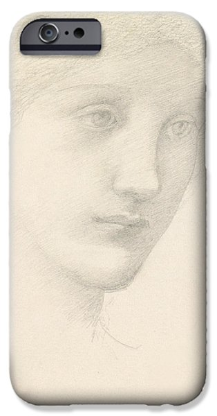 Raphael iPhone Cases - Study for the Venus in The Godhead Fires iPhone Case by Sir Edward Burne-Jones