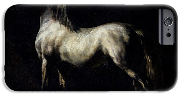 Horse iPhone Cases - Study of a Dapple Grey iPhone Case by Theodore Gericault