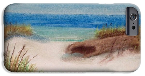 Nature Study Paintings iPhone Cases - Study Seaside 3 iPhone Case by David Forsyth