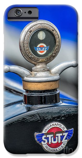 Motometer iPhone Cases - Stutz Motor Company iPhone Case by Adrian Evans