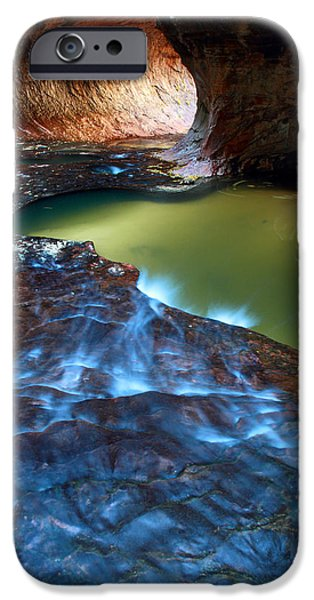 Subway in Zion national park Utah iPhone Case by Pierre Leclerc Photography