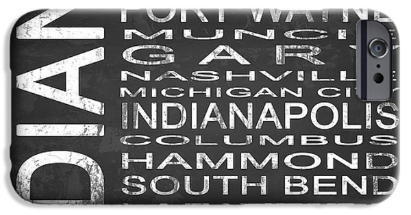Evansville iPhone Cases - SUBWAY Indiana State Square iPhone Case by Melissa Smith