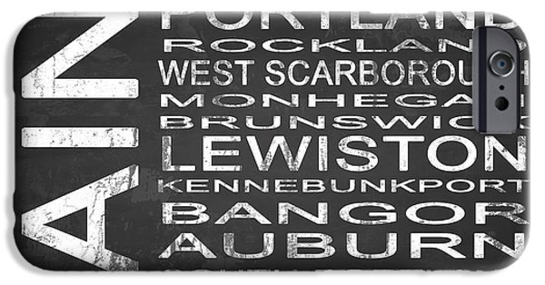 Lewiston iPhone Cases - SUBWAY Maine State Square iPhone Case by Melissa Smith