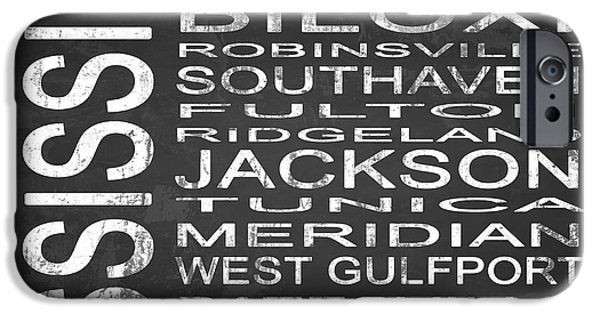 Hattiesburg iPhone Cases - SUBWAY Mississippi State Square iPhone Case by Melissa Smith