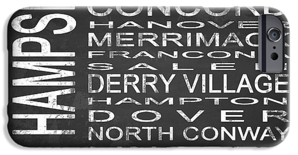 East Village iPhone Cases - SUBWAY New Hampshire State Square iPhone Case by Melissa Smith