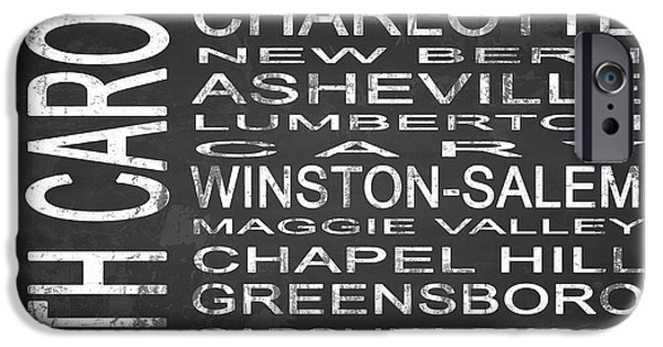 Charlotte Mixed Media iPhone Cases - SUBWAY North Carolina State Square iPhone Case by Melissa Smith
