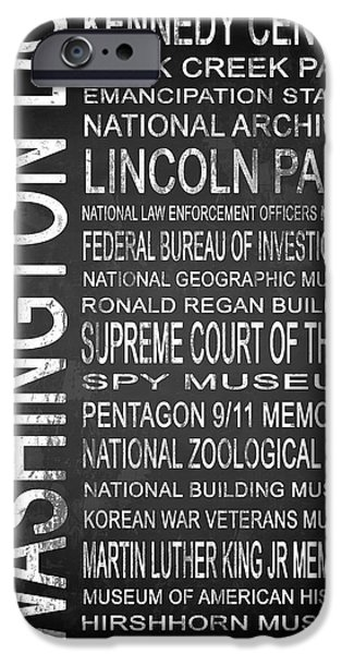 Law Enforcement Mixed Media iPhone Cases - SUBWAY Washington DC 3 iPhone Case by Melissa Smith