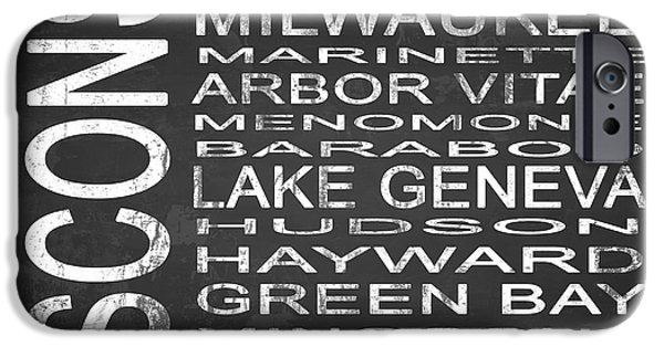 Creek Mixed Media iPhone Cases - SUBWAY Wisconsin State 2 Square iPhone Case by Melissa Smith